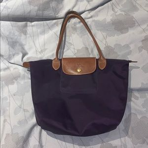 Purple le pliage tote bag